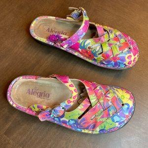 Alegria floral sandals